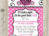 Bunco Birthday Party Invitations Bunco Night La S Night Party Invitation