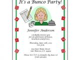 Bunco Birthday Party Invitations Bunco Party Invitation – Mandys Moon Personalized Gifts