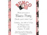 Bunco Birthday Party Invitations Pink and Black Bunco Party 5×7 Paper Invitation Card