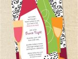 Bunco Birthday Party Invitations Sweet Wishes Girls Night Out Bunco Casino Party Invitations