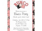 Bunco Party Invitations Pink and Black Bunco Party 5×7 Paper Invitation Card Zazzle