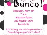 Bunco Party Invitations Polka Dots Bunco Night Invitations