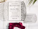 Burgundy and Grey Wedding Invitations Burgundy and Gray Laser Cut Wedding Invitations Swws043