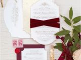 Burgundy and White Wedding Invitations 27 Timeless Burgundy and Gold Fall Wedding Ideas