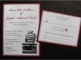 Burgundy and White Wedding Invitations Burgundy Black White Vintage Book themed Wedding