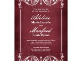 Burgundy and White Wedding Invitations Nouveau Victorian Burgundy White Wedding 5 Quot X 7