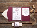Burgundy themed Wedding Invitations Erica Wine themed Wedding Invitation All that Glitters