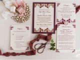 Burgundy themed Wedding Invitations Wedding Invitation Templates Burgundy Wedding Invitations