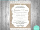 Burlap and Lace Bridal Shower Invitations Bridal Shower Invitations Burlap & Lace by Whimsicalstationery