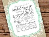 Burlap and Lace Bridal Shower Invitations Burlap and Lace Bridal Shower Invitation by