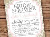 Burlap and Lace Bridal Shower Invitations Burlap and Lace Vintage Bridal Shower Baby by