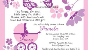 Butterfly Baby Shower Invitations Printable Free butterfly Baby Shower Invitations – Gangcraft