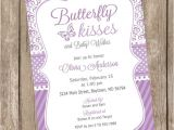 Butterfly Baby Shower Invitations Printable Free butterfly Kisses Baby Shower Invitation butterfly Baby