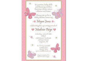 Butterfly Baby Shower Invites Free butterfly Baby Shower Invitations