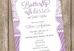 Butterfly Baby Shower Invites Free butterfly Kisses Baby Shower Invitation butterfly Baby Shower