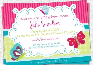 Butterfly Baby Shower Invites Free Printable butterfly Baby Shower Invitation butterflies