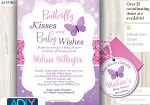 Butterfly Baby Shower Invites Free Purple butterfly Baby Shower Invitations Party Xyz