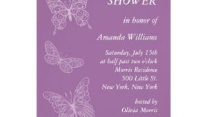 Butterfly Bridal Shower Invitations Filigree butterfly Bridal Shower Purple Personalized