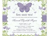 Butterfly Bridal Shower Invitations Purple butterfly Bridal Shower Invitations Invites