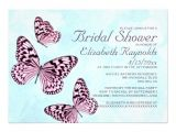 """Butterfly Bridal Shower Invitations Vintage butterflies Bridal Shower Invitations 5"""" X 7"""