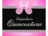 Butterfly Invitations for Quinceaneras butterfly Diamonds Pink Quinceanera 5 25×5 25 Square Paper