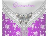 Butterfly Invitations for Quinceaneras Quinceanera Birthday Party Purple White butterfly