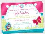 Butterfly themed Baby Shower Invitations Baby Shower Invitations Cute butterfly Baby Shower