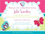 Butterfly themed Baby Shower Invitations Design butterfly Baby Shower Invitations