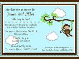 Buy Baby Shower Invitations Online Monkey Baby Shower Invitations Kustom Kreations
