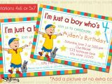 Caillou Party Invitations Caillou Birthday Invitation