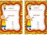 Caillou Party Invitations Caillou Birthday Invitations Birthday Printable