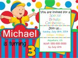 Caillou Party Invitations Caillou Birthday Invitations Partyexpressinvitations