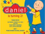 Caillou Party Invitations Caillou Birthday Party Invitations Personalized Custom