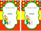 Caillou Party Invitations Caillou Free Printable Birthday Party Invitations