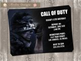 Call Of Duty Birthday Party Invitations Call Of Duty Birthday Invitation Digital File by