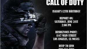 Call Of Duty Birthday Party Invitations Call Of Duty Birthday Party theme Ideas & Supplies