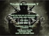 Call Of Duty Birthday Party Invitations Call Of Duty Black Ops Birthday Invitation by