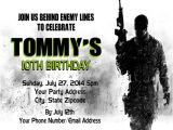 Call Of Duty Birthday Party Invitations Call Of Duty Cod Gaming Birthday Party Invitations