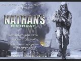 Call Of Duty Birthday Party Invitations Personalized Invitations