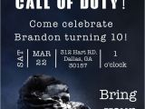 Call Of Duty Birthday Party Invitations the Invitation Was Done A Call Of Duty Birthday Party