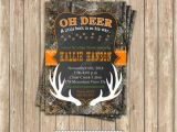 Camo Baby Boy Shower Invitations Camo Baby Shower Boy Deer Hunting Printable Invitation 5×7