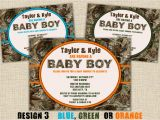 Camo Baby Boy Shower Invitations Camo Baby Shower Invitation Hunting Camouflage Boy Redneck