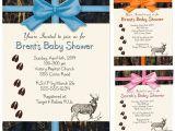 Camo Baby Boy Shower Invitations Camo Baby Shower Invitations