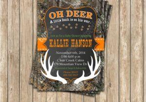 Camo Baby Shower Invites Camo Baby Shower Boy Deer Hunting Printable Invitation 5×7