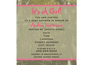 Camo Baby Shower Invites Camouflage & Pink Baby Shower Invitation