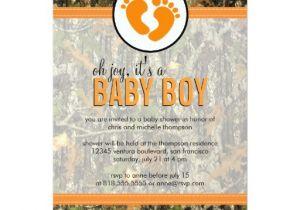 Camo Baby Shower Invites orange Camo Baby Boy Shower Invitation