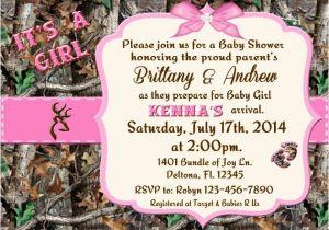 Camo Baby Shower Invites Pink Camo Baby Shower Invitations