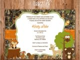 Camo Baby Shower Invites Printable Wooodland Animal Camo Baby Shower Invitation