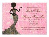 "Camo Bridal Shower Invitations Camo Elegant Pink Bridal Shower Invitation 5"" X 7"