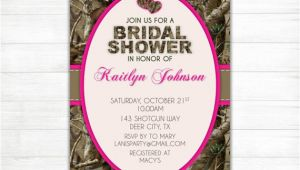 Camo Bridal Shower Invitations Items Similar to Camo Bridal Shower Invitation Hearts